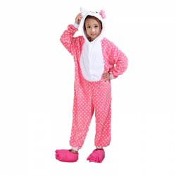 Kigurumi Chat Rose Enfant
